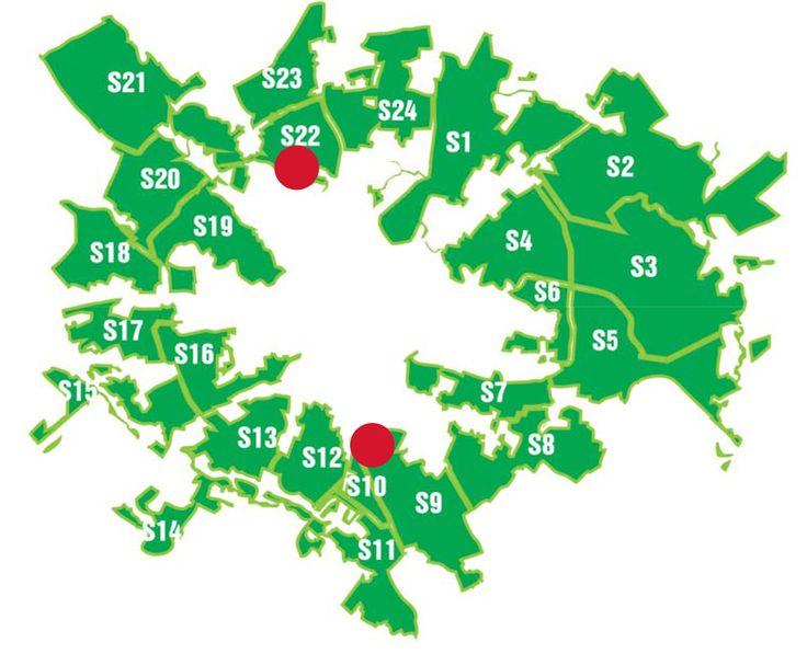 GreenBelt sectors - 24 in total (33 000 ha)