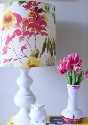 Easy DIY: Give Your Lampshade New Life With A Custom Fabric Cover - Place Of My Taste