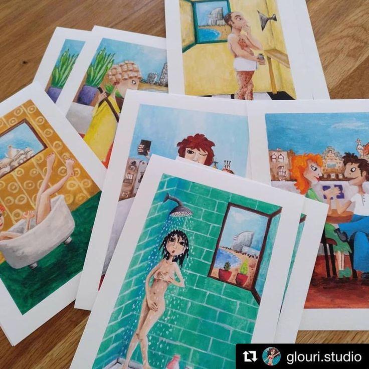 Muy contentos con el resultado de las digitalizaciones + posteriores impresiones #giclée en Canson Infinity Edition Etching Rag 310gsm de Gloria Uribe Trull 💙💚💛 obras llenas de color de #Barcelona 💛💚💙 ℹ️ más info en http://www.glouri.com/ ✨ moltes gràcies, Glòria ✨  ・・・ Repost @glouri.studio Les meves primeres impressions Giclée!!!! Gràcies @graficartprints #illustration #vidaquotidiana #illustrationoftheday #glouri #dailylife #gicleeprint #limitededition #limitededition #prints