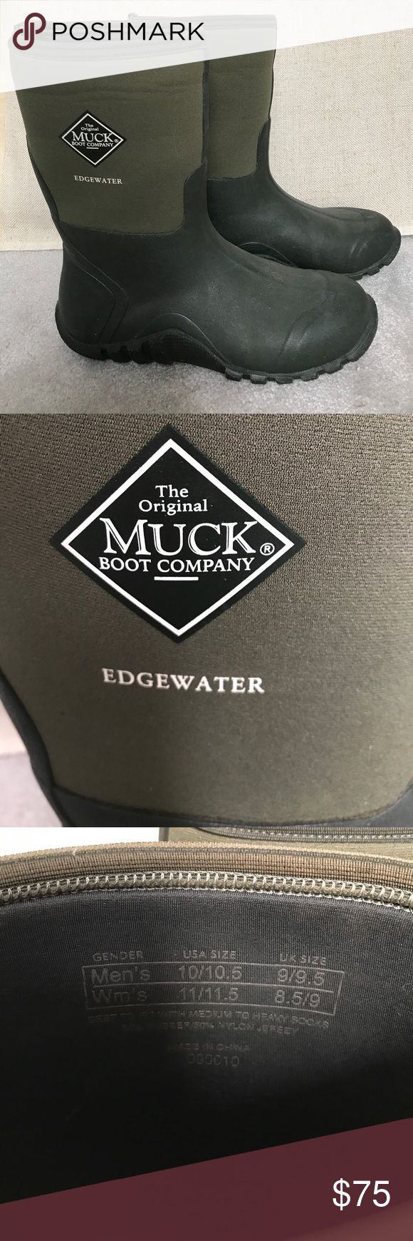 MUCK Edgewater boots 11-11.5 Like new. Steel toe. MUCK Shoes Winter & Rain Boots