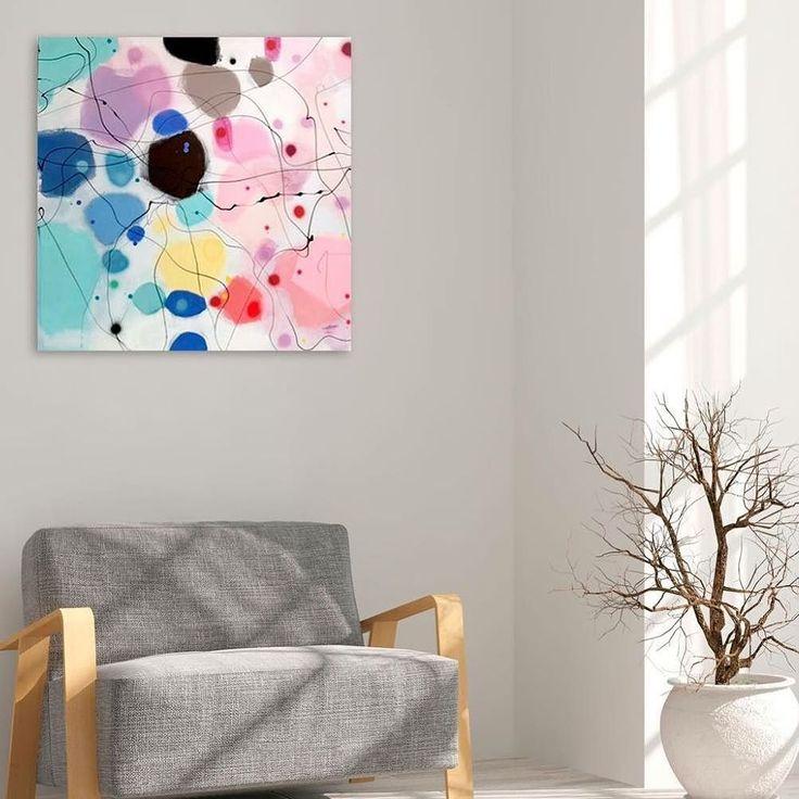 Nyt maleri: PRETTY DRAMA akryl på lærred. Mål 80 x 80 cm :) - www.bjerker.net  #bjerker  #akryl #thejealouscurator #sunshine #art #abstrakt #bolig #color #contemperaryart #danishart #designtilhjemmet #ergåetlidtiferiemood #farverigkunst #farverigemalerier #gladkunst #glæde #happyart #jernbanealle95vanløse #kunst #kunstnerliv #lerfeldtbjerker #maleri #malerier #modernart #modernekunst #nordiskehjem #sommer #unikamaleri #kunstpåvæggen