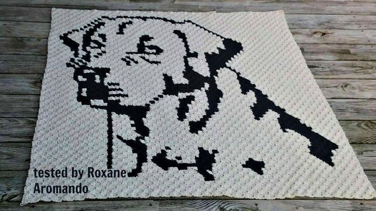 Looking for your next project? You're going to love Labrador Retriever Afghan C2C Graph  by designer Crochet Couch.