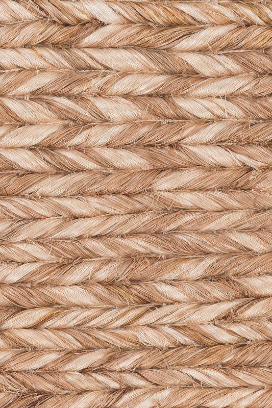 Samar handwoven abaca rug in Coconut colorway, by Merida.