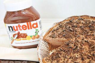 No-Bake Nutella Cheesecake - Dessert Now, Dinner Later!
