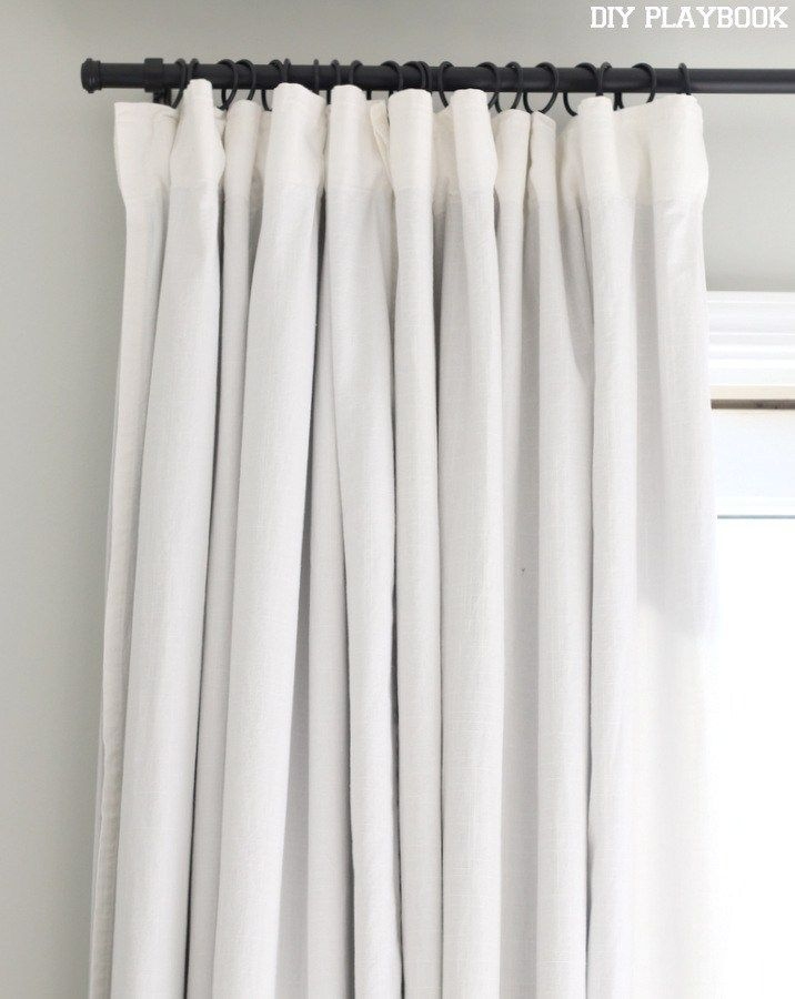 7 Ikea Curtains White Black Rod Diy Playbook Simplecurtains