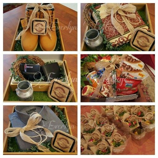 Rustic Gift Trays / Gubahan Hantaran