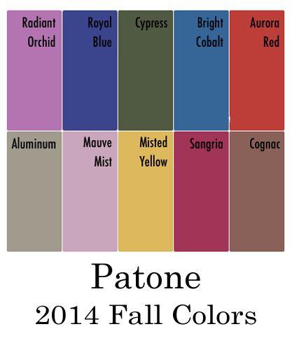 Pantone Fall Color Palette 2014