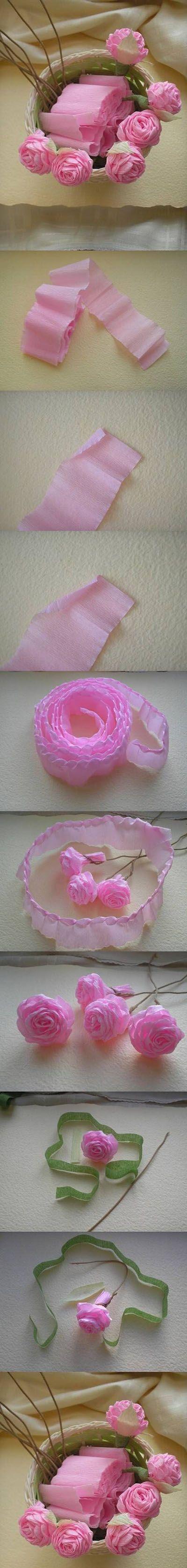 16  DIY Rose from Crepe Paper1f6b04   DIY