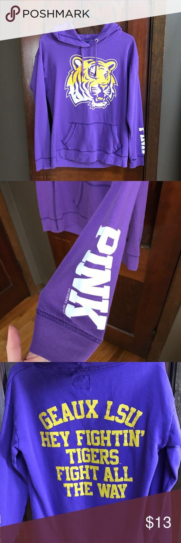 •PINK LSU Sweatshirt• Good used condition!! PINK Victoria's Secret Tops Sweatshirts & Hoodies