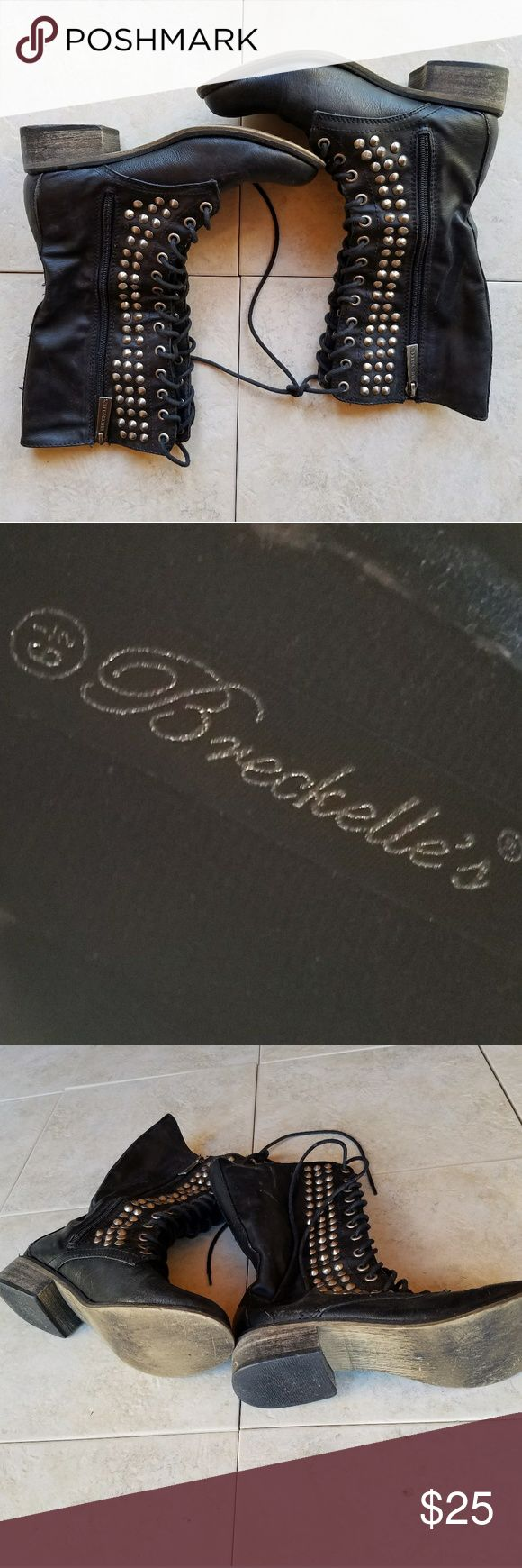 [Breckelles] Studded Combat Boots In amazing, preowned condition. No major flaws. Breckelles Shoes Combat & Moto Boots