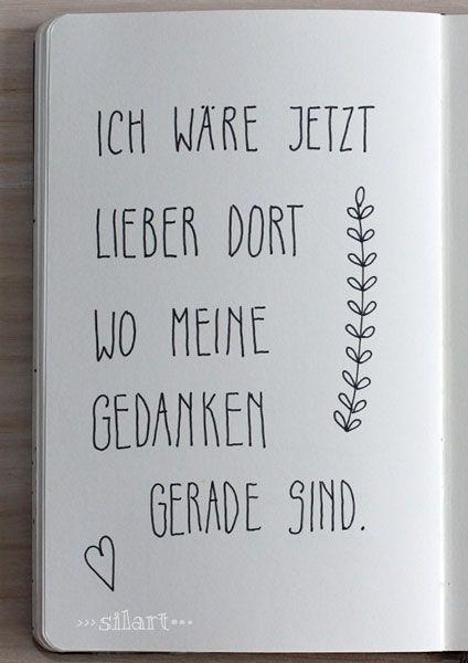 "Sketchbook Handlettering ""Ich wäre jetzt lieber dort..."""
