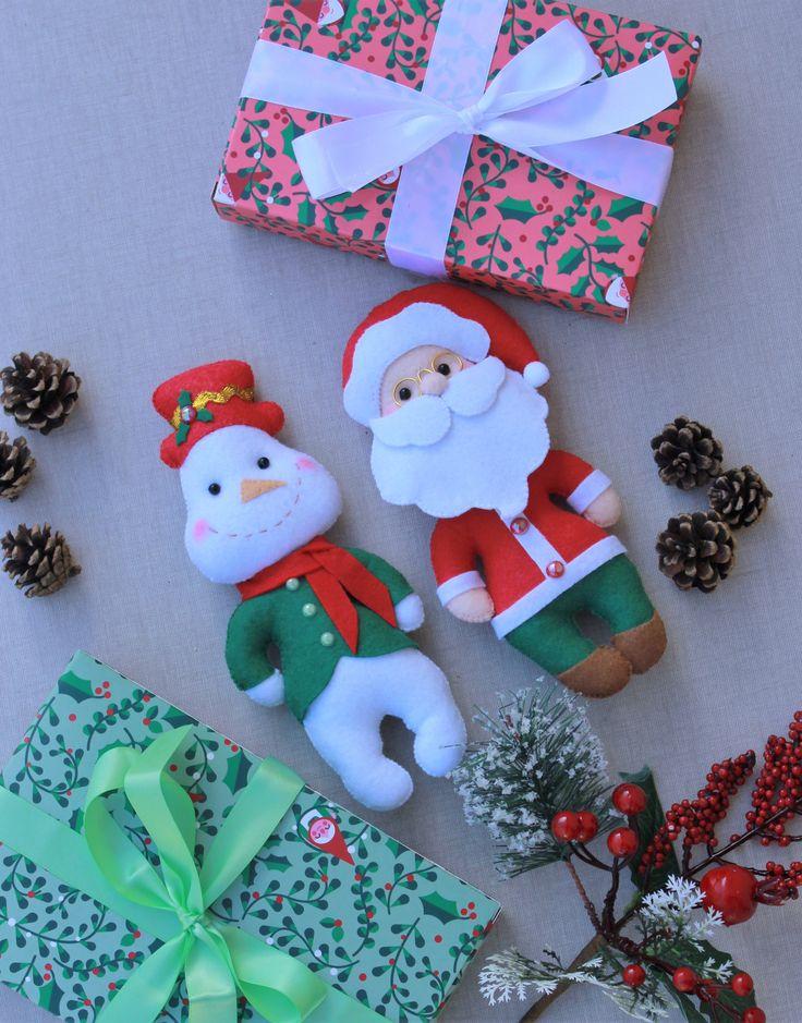 M s de 25 ideas nicas sobre adornos de mu eco de nieve en - Decoracion navidena fieltro ...
