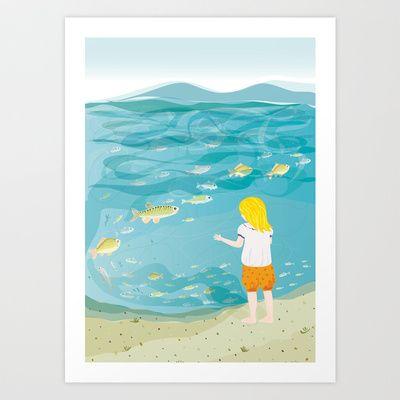 By the lake Art Print by Zsófi Porkoláb
