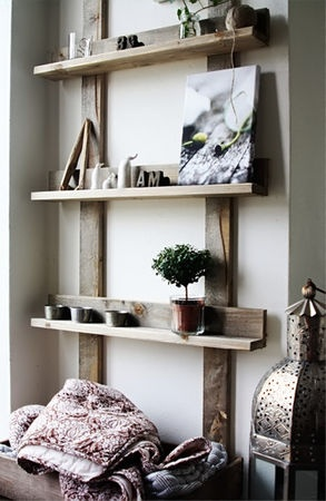 love these simple shelves