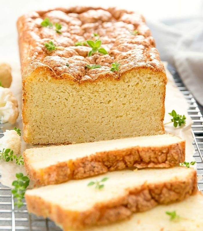 Cauliflower Bread Recipe Cauliflower Bread Low Carb Bread Food