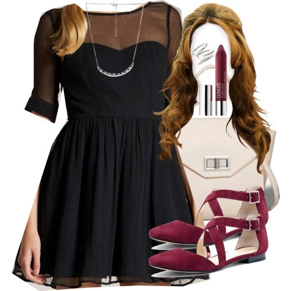 A fashion look from December 2014 featuring Jack Wills dresses, Sole Society flats and Express handbags. Browse and shop related looks.