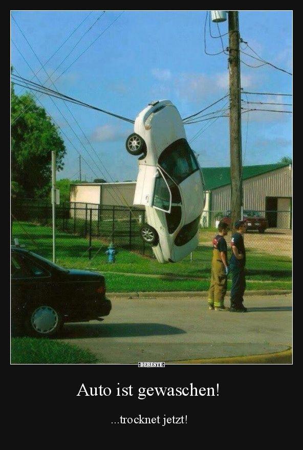 Auto ist gewaschen!