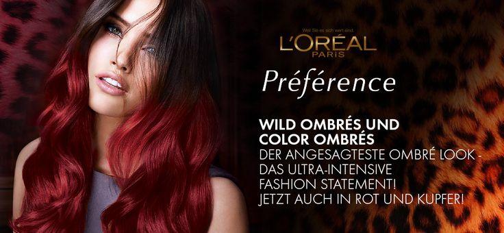 ombr look mit roten haarspitzen hair make up pinterest. Black Bedroom Furniture Sets. Home Design Ideas