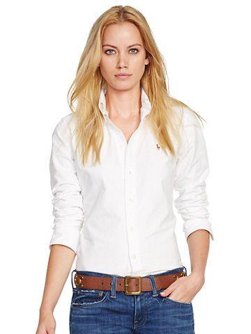 Custom-Fit Oxford Shirt - Long-Sleeve  Shirts - RalphLauren.com