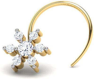 CaratLane Flower Blossom Diamond 9K Yellow Gold Plated Gold Nose Stud Price in India - Buy CaratLane Flower Blossom Diamond 9K Yellow Gold Plated Gold Nose Stud Online at Best Prices in India | Flipkart.com