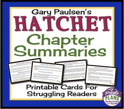 review of hatchet by gary paulsen Review of hatchet by gary paulsen i read the book hatchet by gary paulsen the book was about a thirteen-year-old boy named brian robeson who was stranded in.