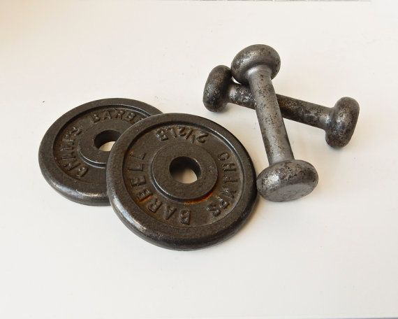 Dumbells Weightlifting Equipment Iron Weights Iron by BeeJayKay