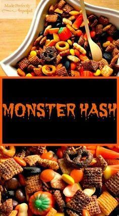 Monster Hash is a de Monster Hash is a delicious combination of...  Monster Hash is a de Monster Hash is a delicious combination of sweet and salty and a SPOOKTACULAR Halloween treat your family is sure to love. Recipe : http://ift.tt/1hGiZgA And @ItsNutella  http://ift.tt/2v8iUYW