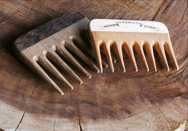 Nick Offerman's (i.e. Ron Swanson from Parks and Rec) woodworking shop makes mustache combs. Is there a manlier thing in existence?