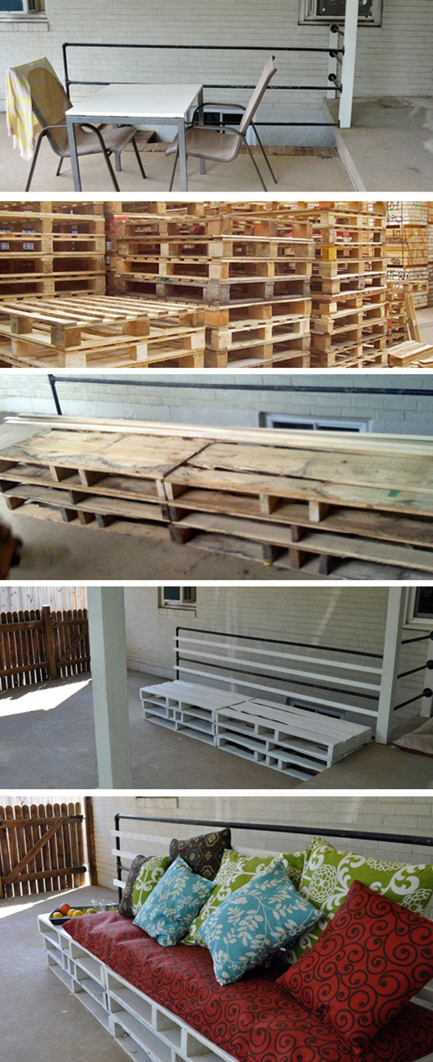 Summer Project: Pallet Patio Furniture: