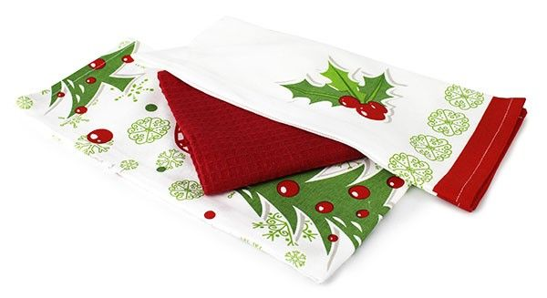 A traditional Christmas tea towel set for the festive season.  Brighten up your kitchen this Christmas with our three piece set of candy printed tea towels. 100% Cotton. #kitchendecor #homedecor #wamhomedecor www.wamhomedecor.com.au