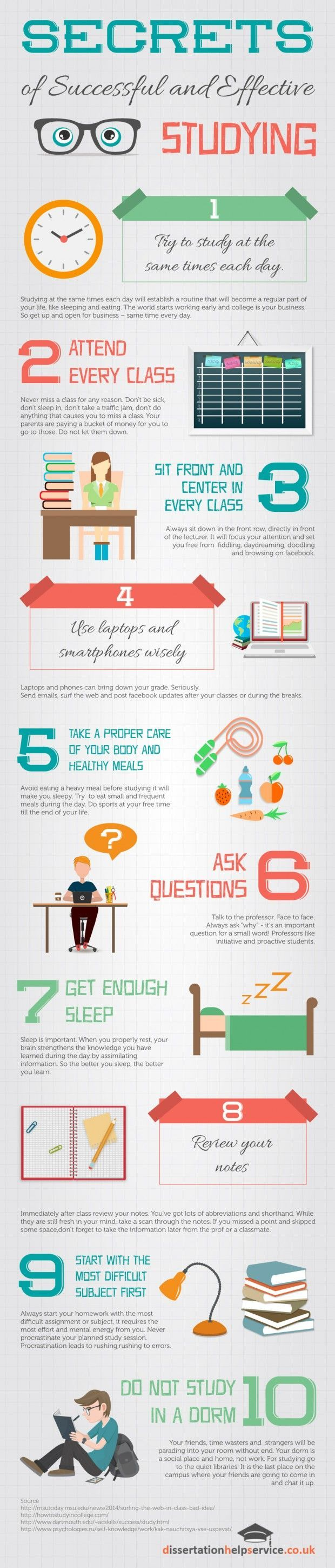 Secrets of Successful and Effective Studying Infographic Repinned by Chesapeake College Adult Ed. We offer free classes on the Eastern Shore of MD to help you earn your GED - H.S. Diploma or Learn English (ESL). www.Chesapeake.edu
