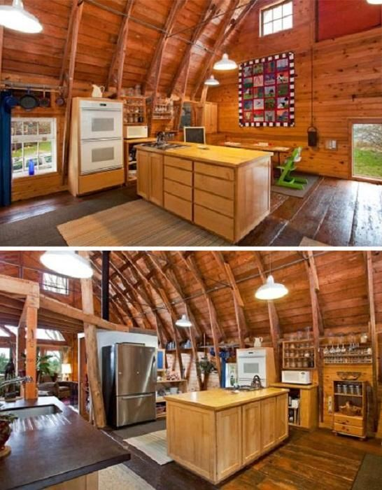 Architecture barns converted into build a barn barns home for Pole barn house interior designs