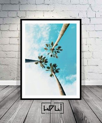 Palm Tree Print, Tropical Art, Palm Print, Beach Print Art, California Print, Summer Print. Insntant Download Printable Art from HOLIxoPRINT at www.printablez.ca