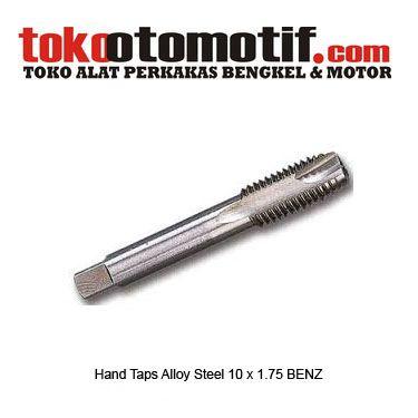 Hand Taps Alloy Steel 10 x 1.75 BENZ - pembuat ulir dalam  Kode : 130048 Nama : Hand Taps Alloy Steel Merk : BENZ Tipe : 10 x 1.75 Berat Kirim : 1 kg  #handtap #handtaps #hargahandtap #jualhandtap