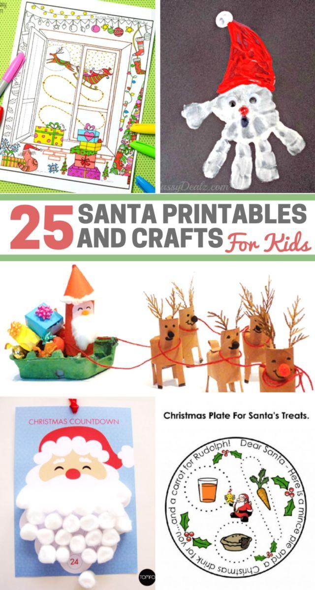 25 Santa Printables and Crafts for Kids