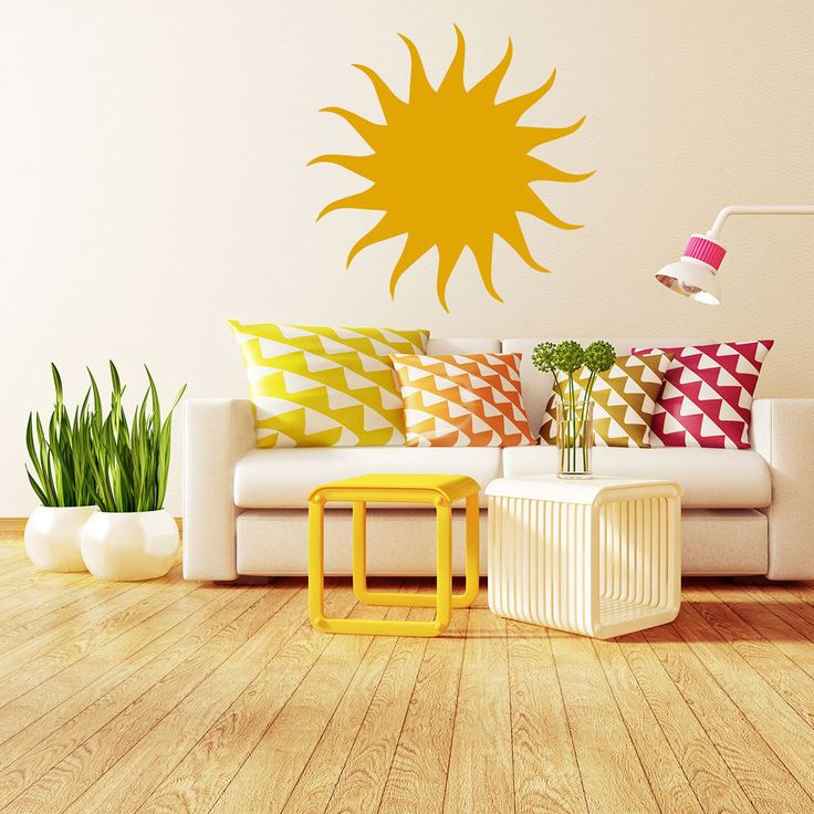 Sun Silhouette Weather Decorative Patterns Wall Stickers Home Decor Art Decals