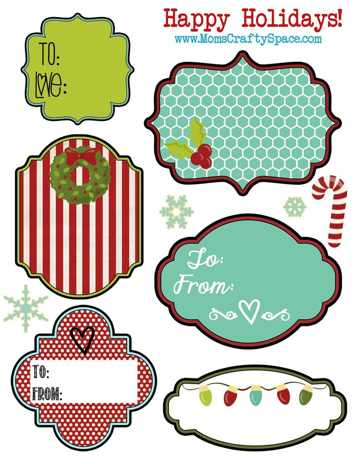 Free Printable Holiday Gift Tags and Labels