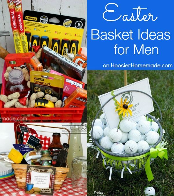 Easter Basket Ideas for Men on HoosierHomemade.com