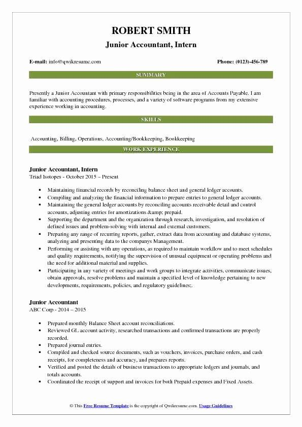 Accountant Resume Sample Pdf Fresh Junior Accountant Resume Samples Project Manager Resume Sales Resume Examples Resume Examples