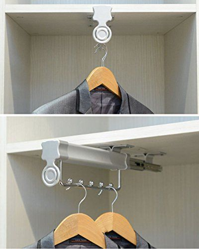Homebasix Sliding Closet Hanger Rod Rack Wardrobe Valet E Https