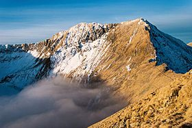 Moldoveanu Peak is the highest point in Romania at 8,346 ft (2,544 m) and it's prominence is 6,713 ft (2,046 m).