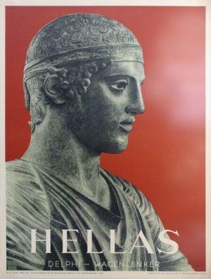 Greece Delphi, 1958 - original vintage poster listed on AntikBar.co.uk