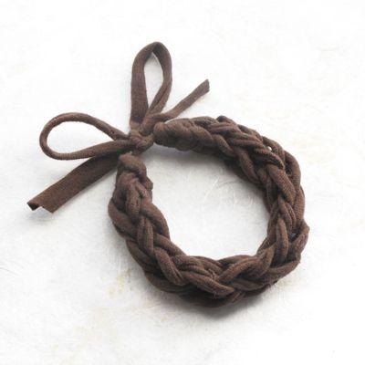 diy jersey finger knit T- shirt bracelet