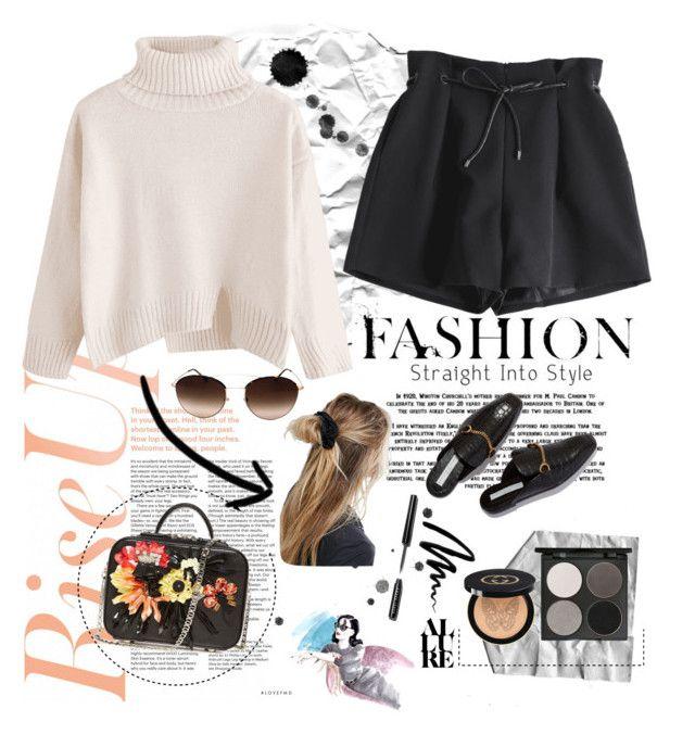 """slit oversized turtleneck sweater"" by saaraahnafisah on Polyvore featuring La Perla, ASOS, Giorgio Armani, Bobbi Brown Cosmetics, Gorgeous Cosmetics and Gucci"