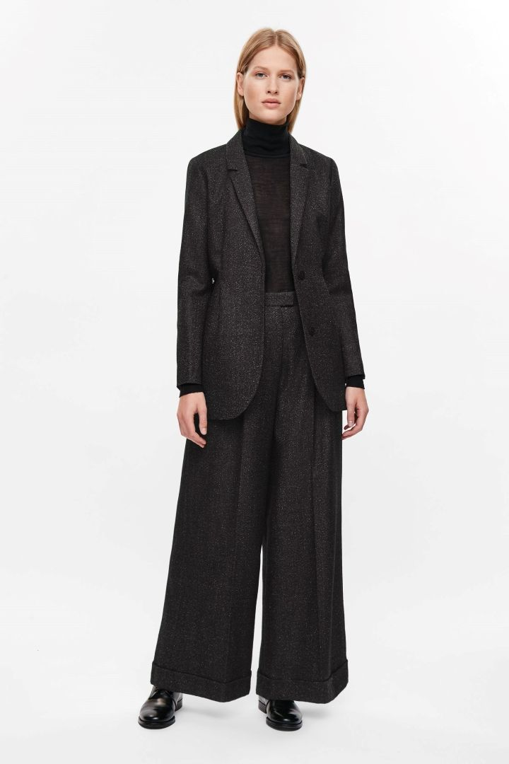 COS   Belted wrap-over blazer