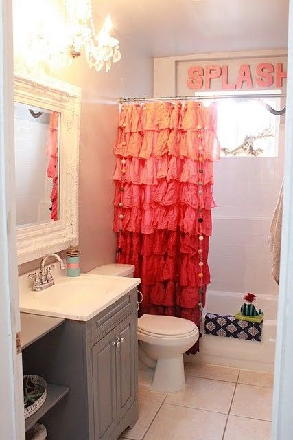 Ruffle Shower Curtain From Anthropologie Bathroom Ideas