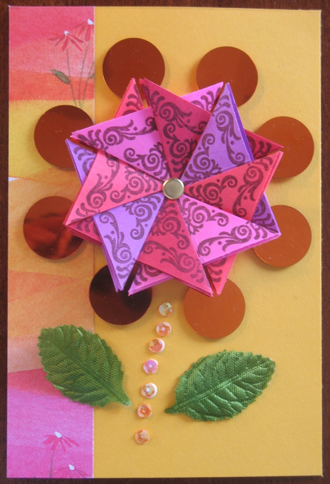 Folding Card Making Ideas Part - 36: Creating Beautiful Kaleidoscope Cards Crafts Using Clear Rubber Stamps To  Design Artisitc Ideas