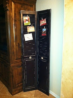 shutters as card holders