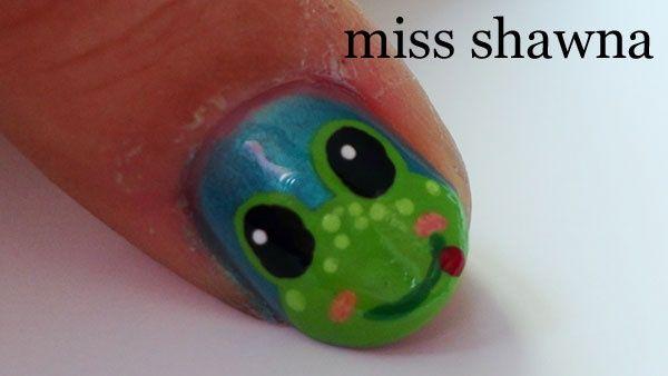 cute frog by missshawna - Nail Art Gallery nailartgallery.nailsmag.com by Nails Magazine www.nailsmag.com #nailart