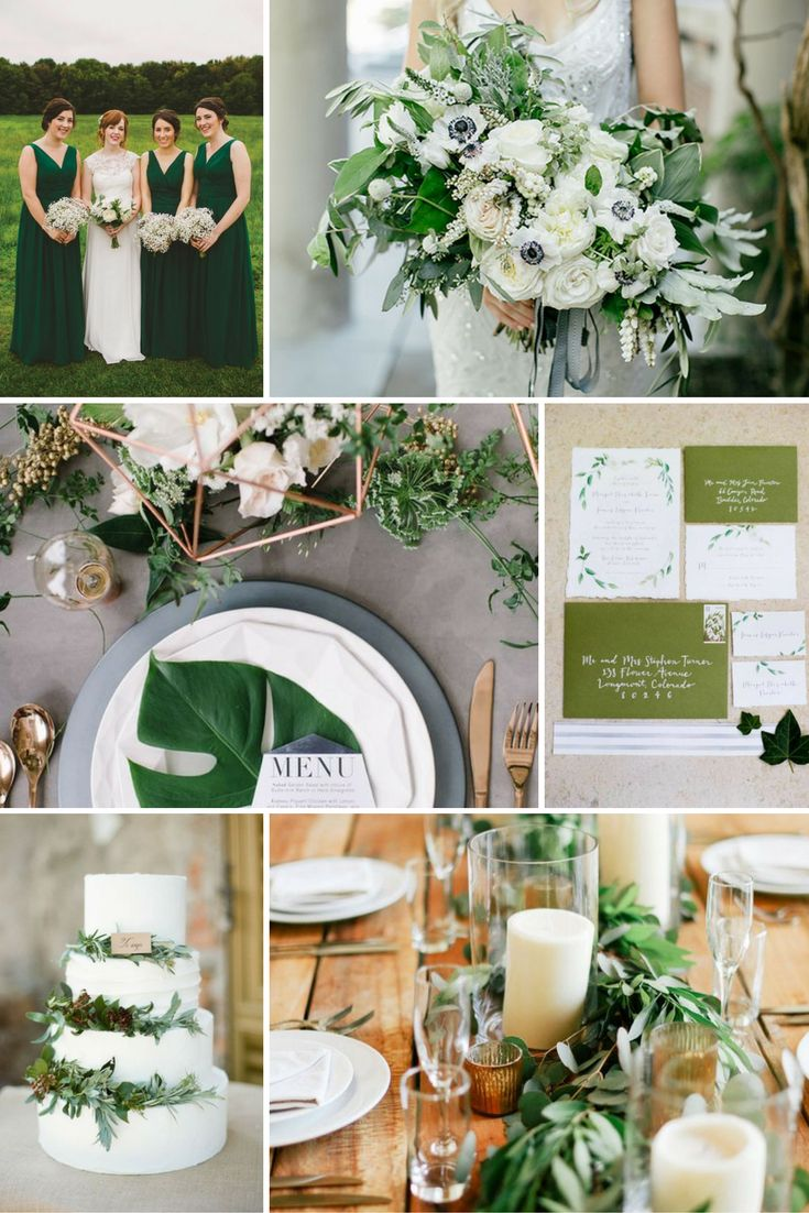 Lombzöld | Esküvői színek 2017 - 15 trendi színkombinációt mutatunk a tökéletes esküvői dekorációhoz. Inspirálódj velünk!
